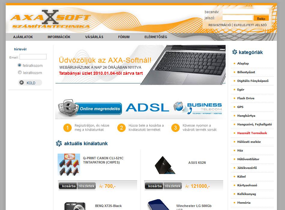 Axasoft Webáruház