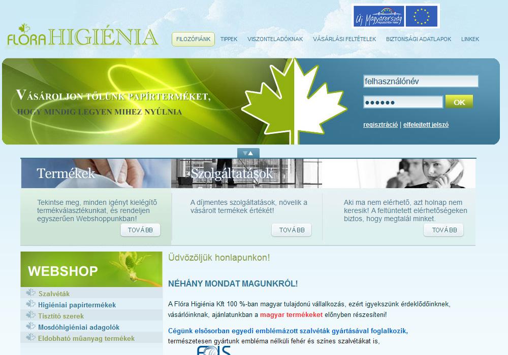 Flórahigiénia Kft. webáruház