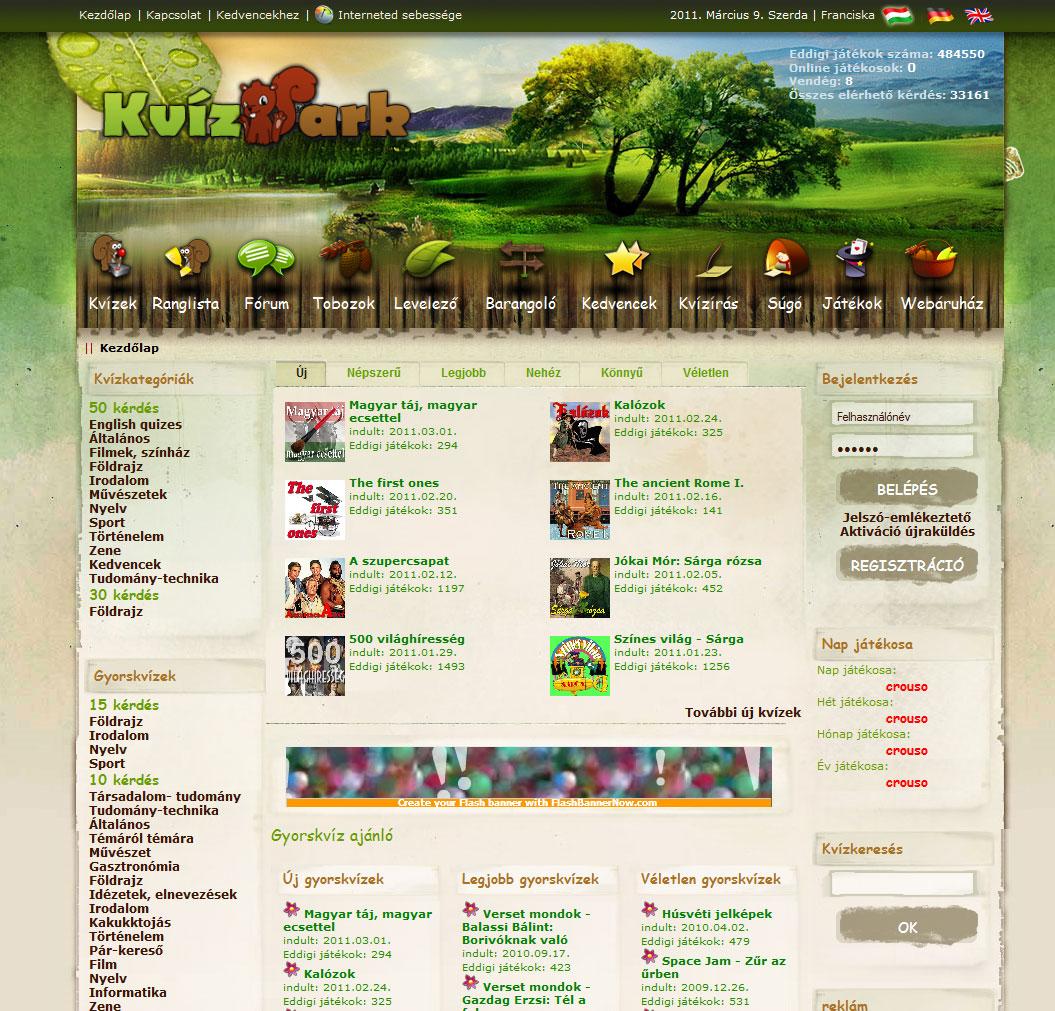 KvízPark Online kvízjáték