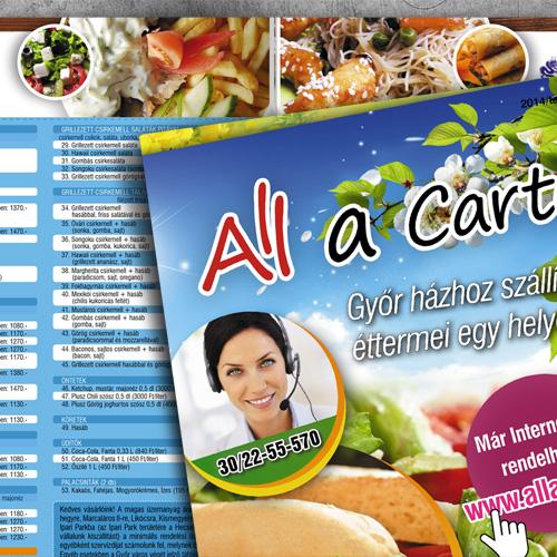 All a Carte – Házhoz szállítás étlap