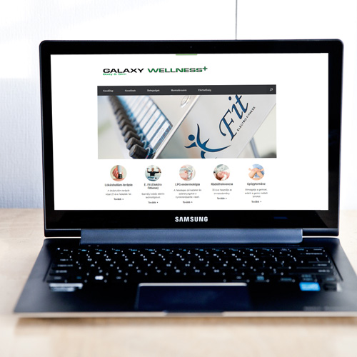 Galaxy+ E-Fitt Wellness weboldal