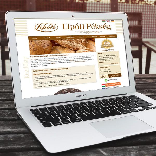 Lipóti Pékség weboldala